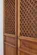 Pair of Chinese Carved Elm Lattice Door Panels