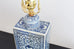 Chinese Blue and White Tea Caddy Jar Lamps