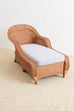 Palecek Wicker Chaise Longue