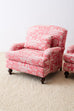 Pair of French Provincial Toile Oversized Lounge Chairs