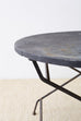Round French Wrought Iron Folding Dining Table