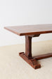 Italian Walnut Trestle Style Farm Dining Table