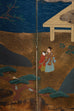 Japanese Six Panel Edo Period Style Tosa School Screen