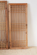 Set of Four Chinese Geometric Lattice Window Panels