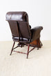 19th Century French Napoleon III Leather Reclining Armchair