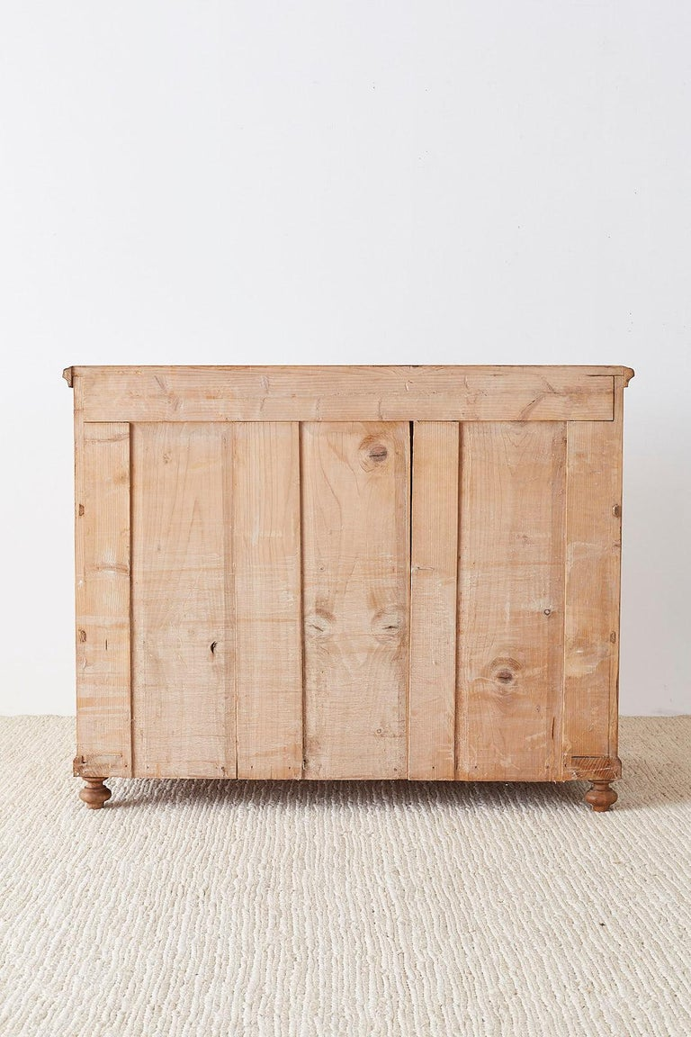 19th Century French Pine Commode Chest of Drawers