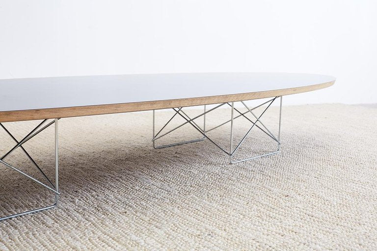 Eames Surfboard Coffee Table.Eames For Herman Miller Black Elliptical Surfboard Table Erin Lane Estate