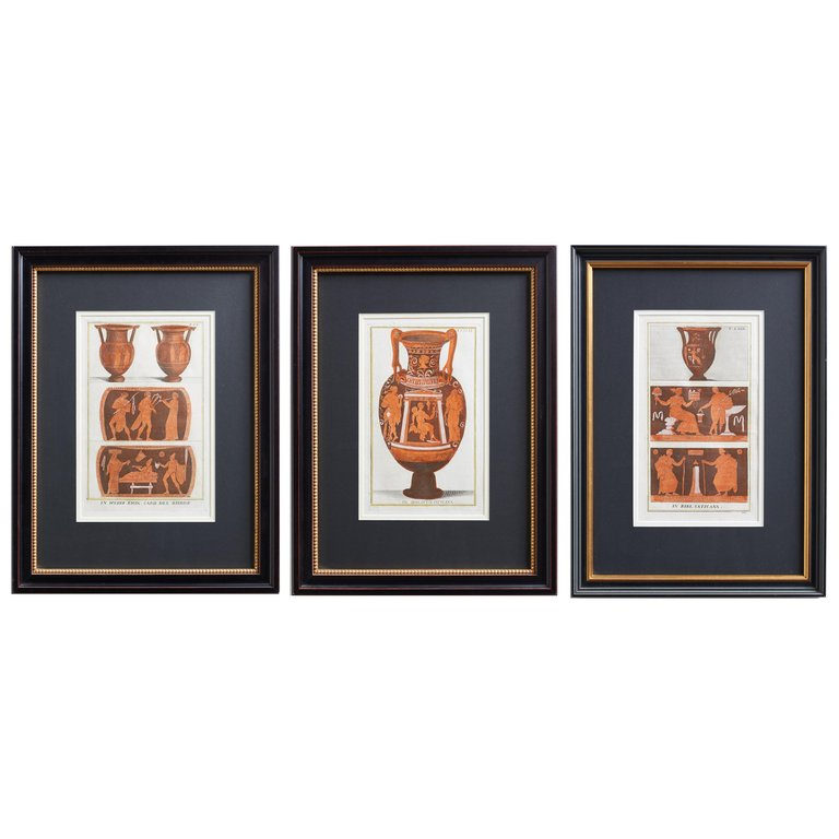 Set of Three Greco-Roman Neoclassical Engravings after Passeri