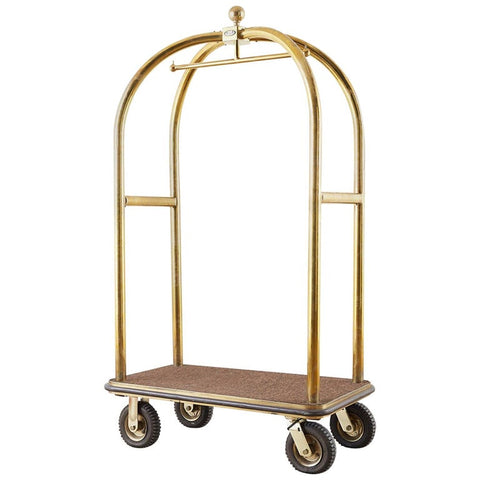 Forbes Brass Bird Cage Luggage Cart Bellman's Valet