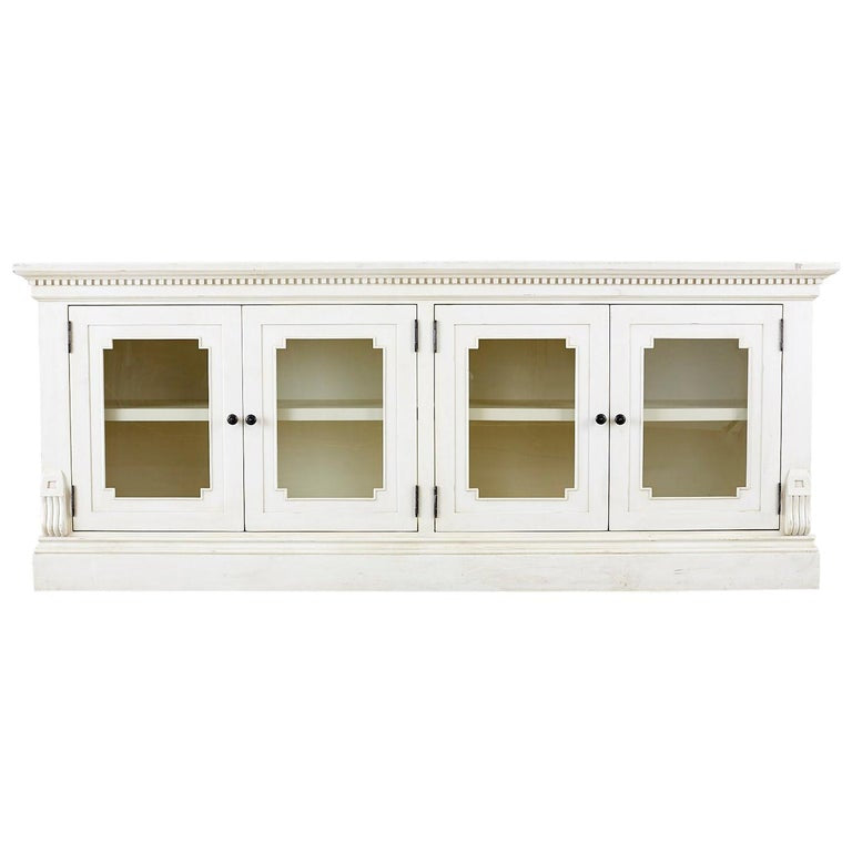 Geoffrey Hawkes for Restoration Hardware Glass Door Sideboard