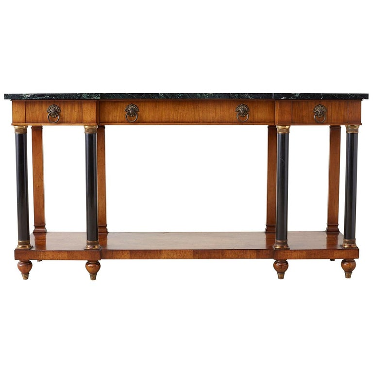 John Widdicomb Neoclassical Style Marble Top Console Table