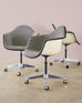 Set of Four Eames for Herman Miller Swivel Shell Chairs