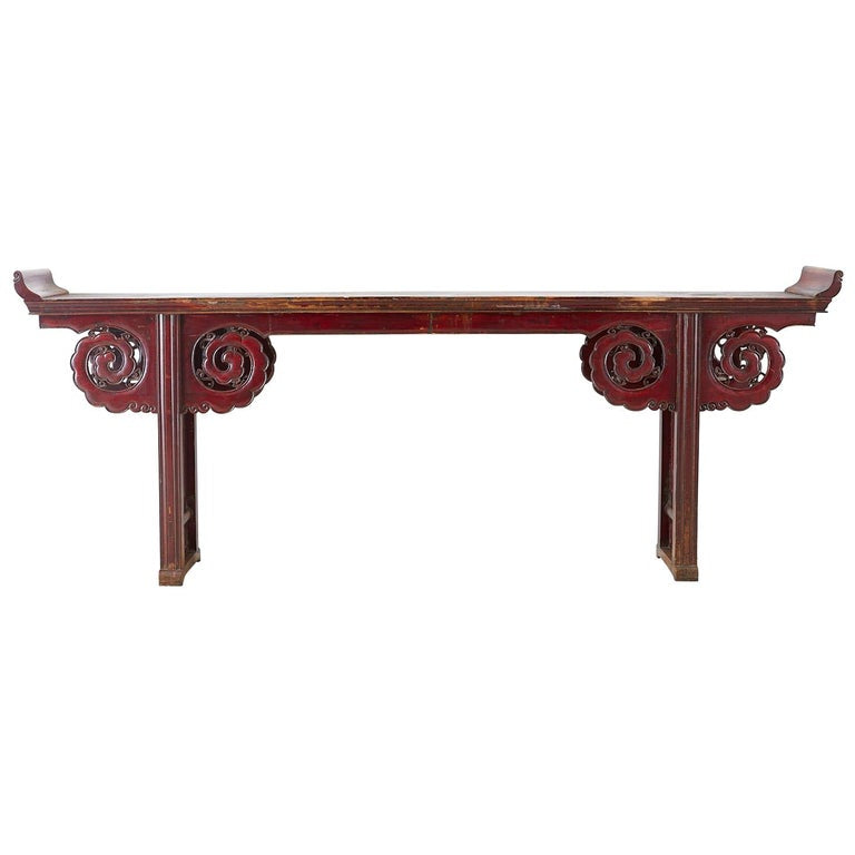 Monumental Chinese Qing Dynasty Altar Table or Console