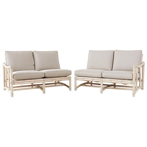 Pair of McGuire California Modern Sectional Sofas