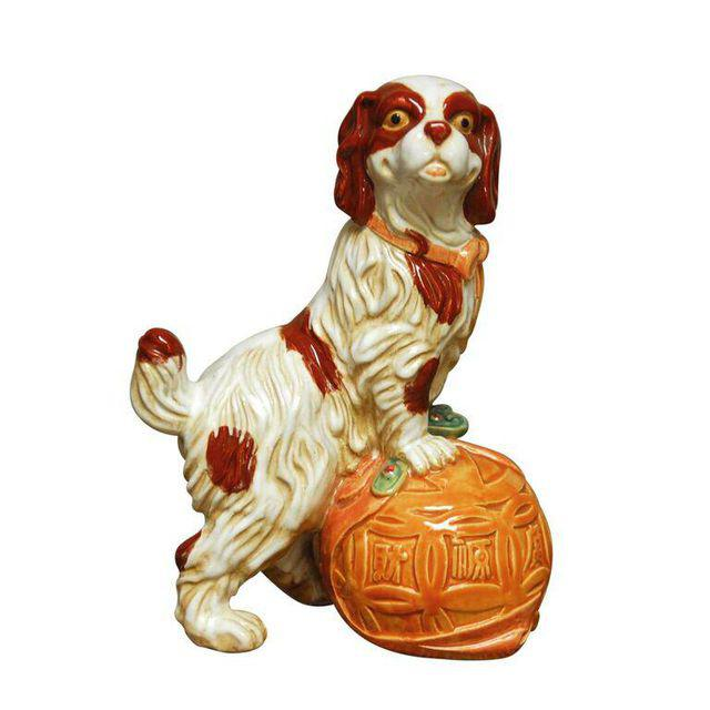 Staffordshire King Charles Spaniel Dog Figurine
