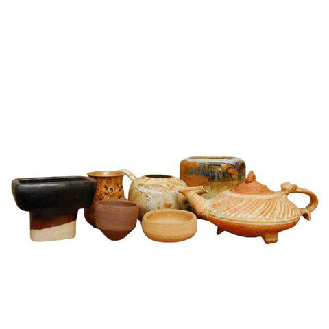 Assembled Studio Pottery- Set of 7
