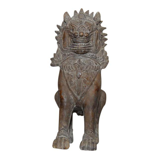 Thai Ceramic Foo Dog Temple Guardian
