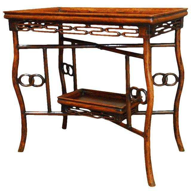 Chinese Qing Rosewood Folding Tray Table