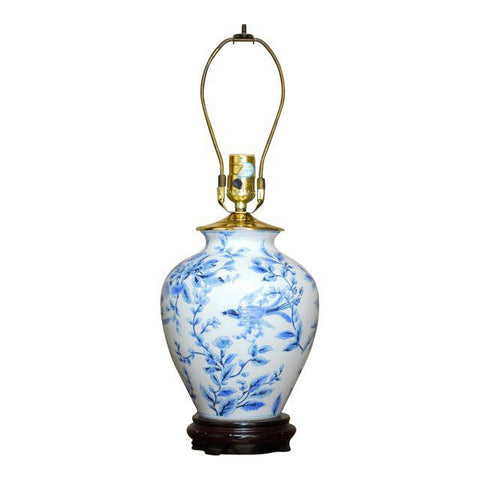Diminutive Chinoiserie Blue and White Table Lamp