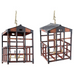 Japanese Tansu Style Wooden Crate Cage Chandeliers