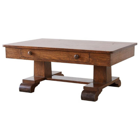 Arts and Crafts Mission Oak Coffee Cocktail Table