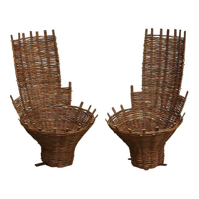 French Reproduction Wall Baskets - a Pair