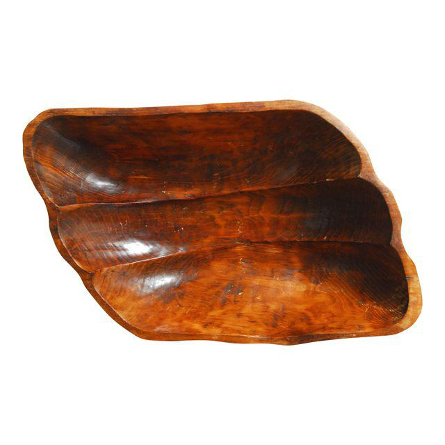 Hand-Carved Wooden Bowl