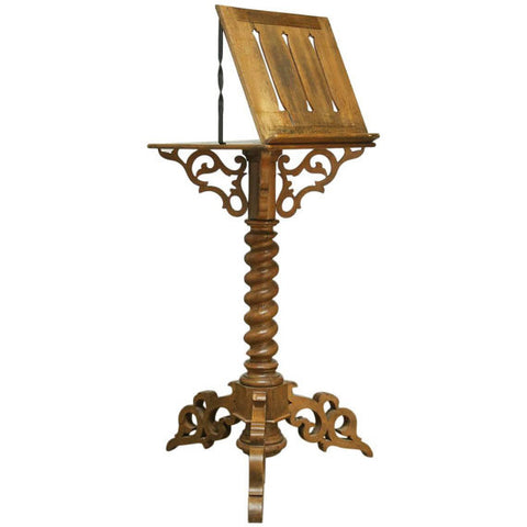 Monumental Italian Carved Oak Lectern Book Stand