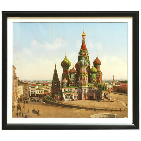 19th Century Photochrom Chromolithograph of the Kremlin Moscow, Russia