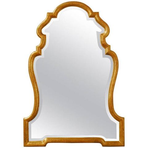 Italian Hollywood Regency Carved Giltwood Mirror by La Barge