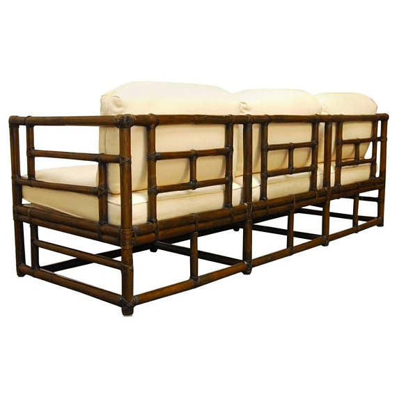 bamboo modern furniture. Organic Modern Bamboo Case Sofa By McGuire Furniture O