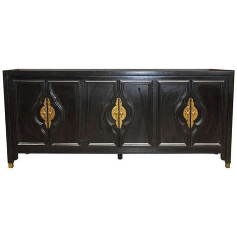 Black Lacquer Sideboard by James Mont for Century Furniture