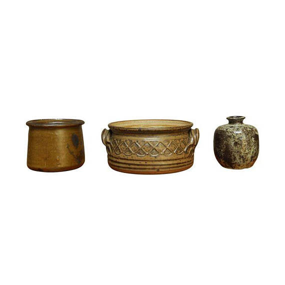 Studio Pottery Assembled Set of Three