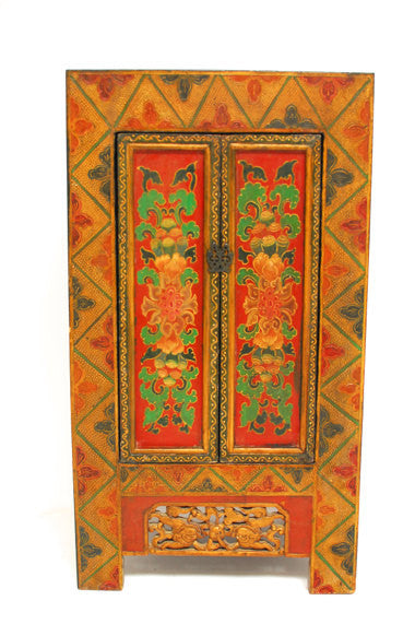 Antique Asian Painted Cabinet