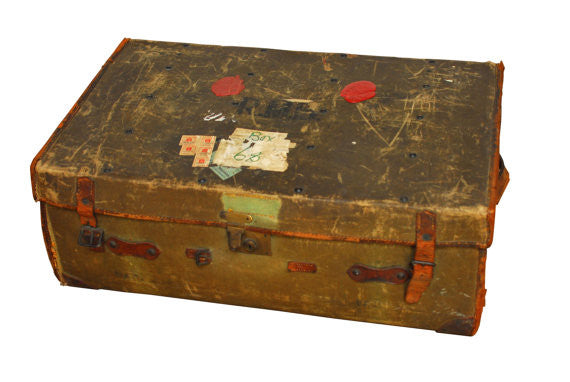 Antique Steamer Travel Trunk Luggage