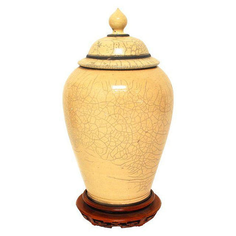 Asian Ginger Jar with Stand