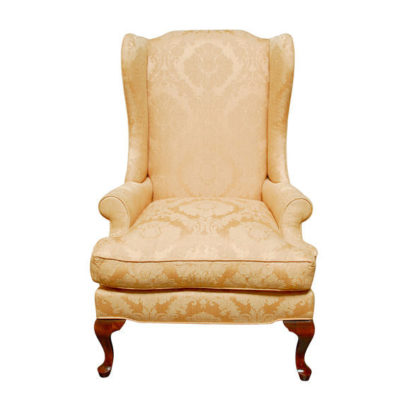 Queen Anne Mahogany Wing Back Chair