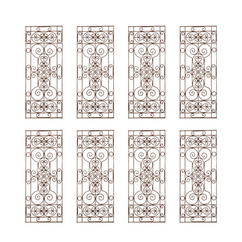 Set of Eight Spanish Wrought Iron Doors or Gates