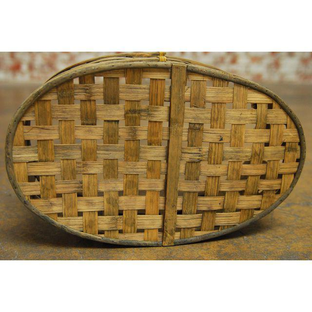 Trio of Oblong Woven Baskets