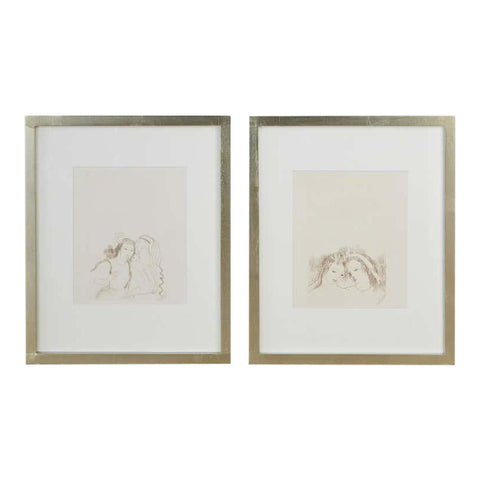"""Two Women"" Pair Etchings"