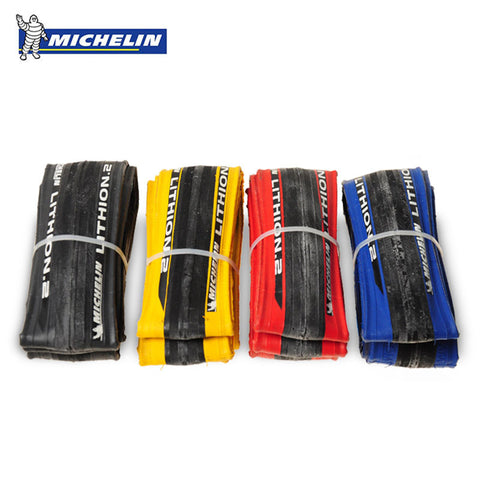 Michelin LITHION 2 Road Bike Tires 700 * 23C, 260g , Blue, Red, Black or Yellow