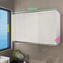 Load image into Gallery viewer, 3 Door White Glossy Hanging Storage Cabinet