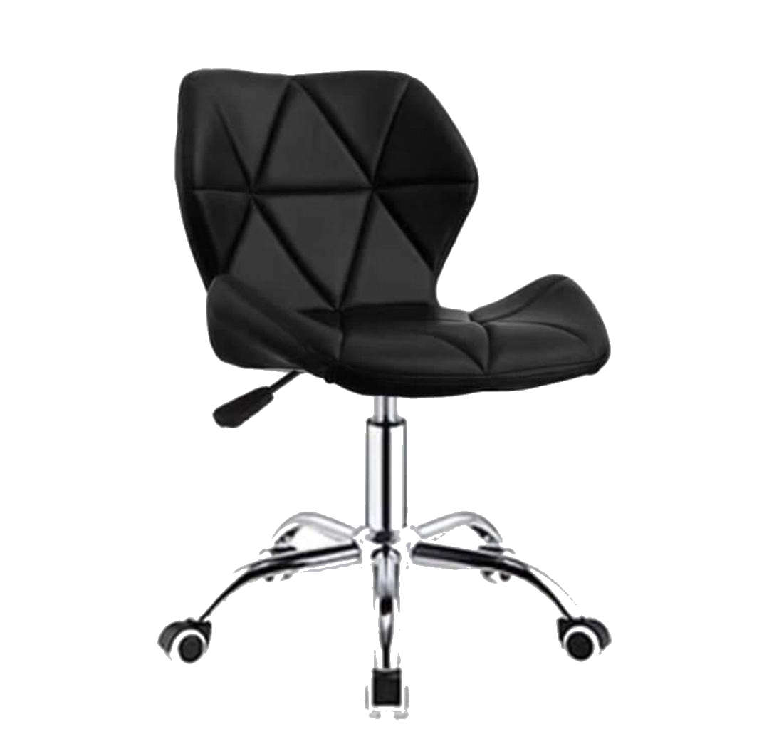 Zelda Quilted Swivel Office Chair (Black)