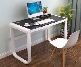 Macey Office Table in Black & White