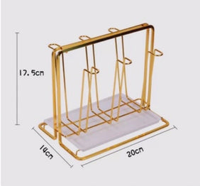 Gold Drinking Glass Drying Rack