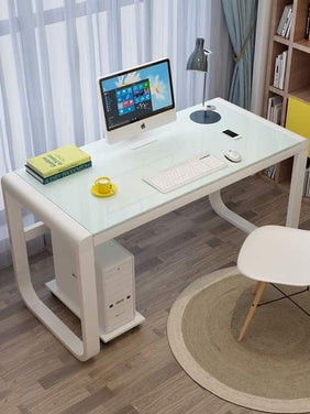 Macey Office Table in White