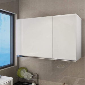 3 Door White Glossy Hanging Storage Cabinet