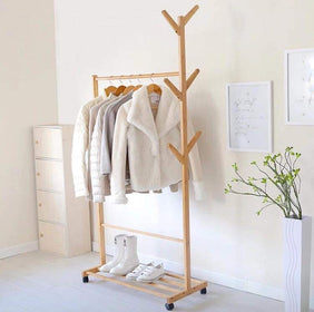 Wooden Clothes Rack