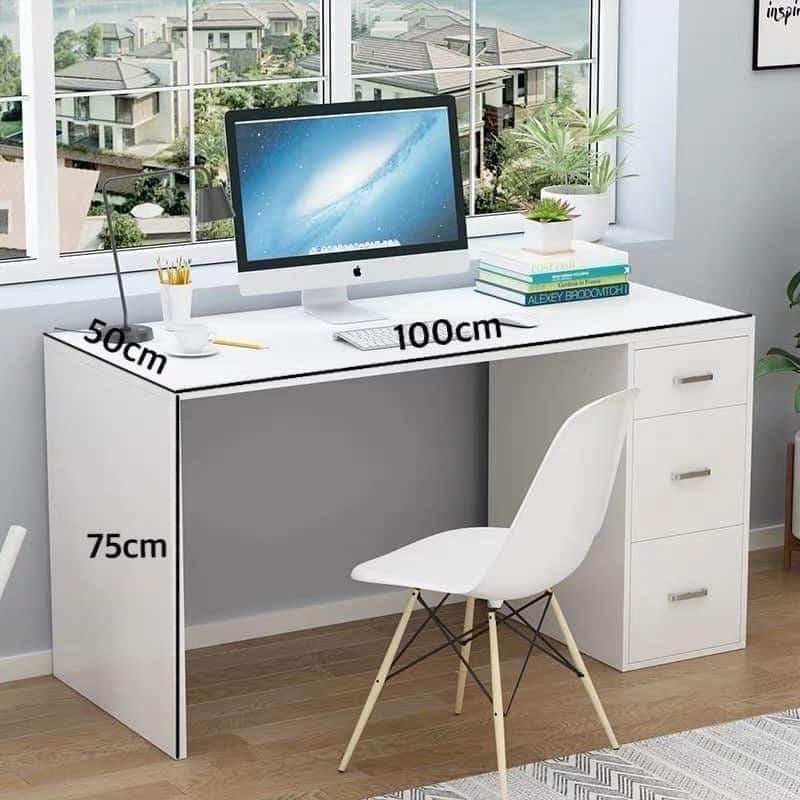 Misty Office Table (White)