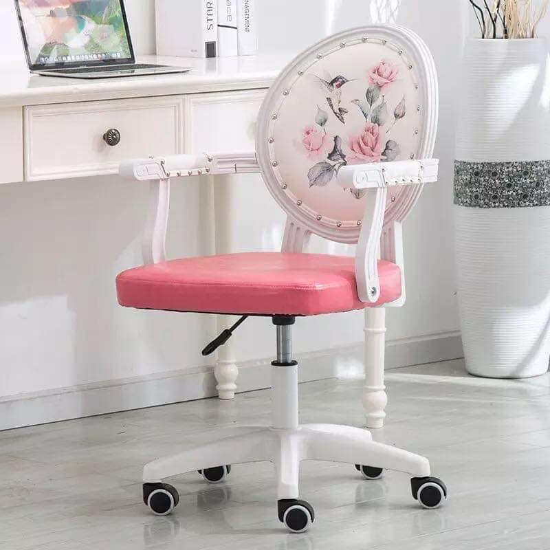 Floral Victorian Pink Office Chair